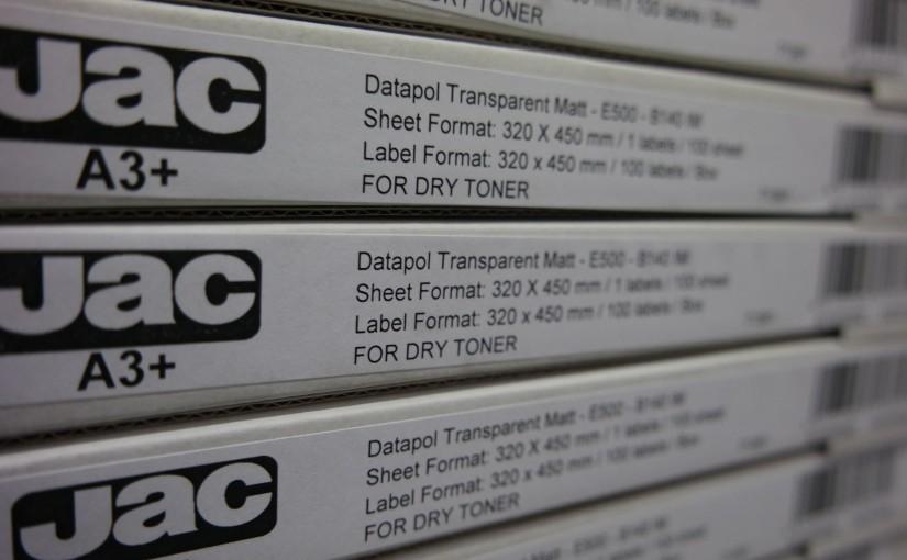JAC Digilabel öntapadó tárolás és nyomtatás – műszaki információ